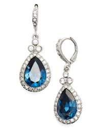 Givenchy | Blue Pave Drop Earrings | Lyst