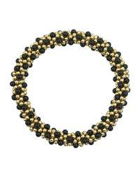 Meredith Frederick | 14k Gold And Black Onyx Bead Bracelet | Lyst