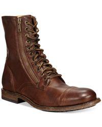 Frye   Brown Men's Tyler Double Zip Boots for Men   Lyst