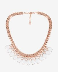 Ted Baker | White Teardrop Crystal Necklace | Lyst