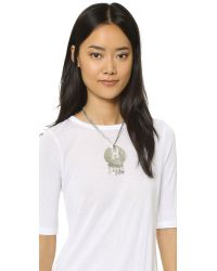 Vanessa Mooney | Metallic Eagle Medallion Necklace - Silver | Lyst