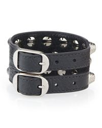 Balenciaga - Black Giant 12 Triple-row Leather Bracelet - Lyst