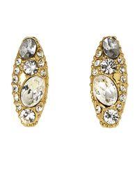 Rachel Zoe - Metallic Gold-Plated Accented Earrings - Lyst