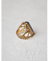 Free People | Blue Tribe Jewelry Womens Chevron Stone Ring | Lyst