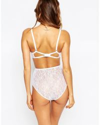 ASOS | White Risky Business Lace Body | Lyst