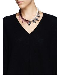 Joomi Lim - Multicolor Crystal Faux Pearl Double Strand Necklace - Lyst