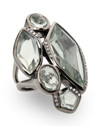 Ippolita | Metallic Wicked 5-stone Green Amethyst Ring | Lyst