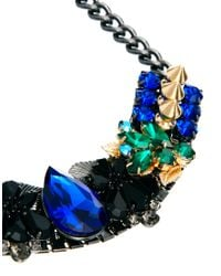 ASOS - Multicolor Warrior Gemstone Necklace - Lyst