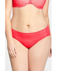 Natori | Red 'smooth Scroll' Hipster Briefs | Lyst