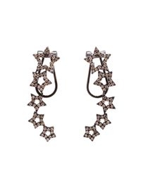 Rosa De La Cruz | Black 18k Gold And Diamond Earrings | Lyst