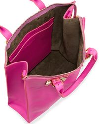Sophie Hulme - Blue Soft Buckled Zip Tote Bag Hot Pink - Lyst