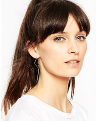 ASOS | Metallic Open Square Through Earrings | Lyst