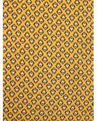 Violeta by Mango - Yellow Flowy Printed Blouse - Lyst
