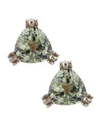 Slane - Calypso Green Amethyst Stud Earrings - Lyst