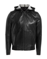 Marc By Marc Jacobs - Hooded Leather Jacket - Black for Men - Lyst