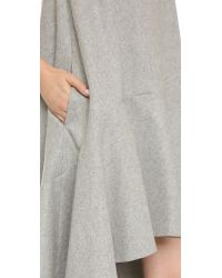 Edit - Gray Asymmetrical Dress - Grey - Lyst