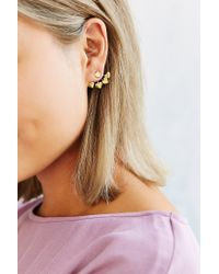 Venessa Arizaga - Metallic 4-prong Heart Earring - Lyst