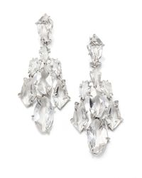 Alexis Bittar Fine - Metallic Silver Ice Marquis Clear Quartz, Diamond & Sterling Silver Kite Chandelier Earrings - Lyst