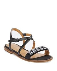 Enzo Angiolini | Black Jewelana Slide Sandals | Lyst