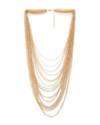 Forever 21 - Metallic Pile Of Chains Necklace - Lyst
