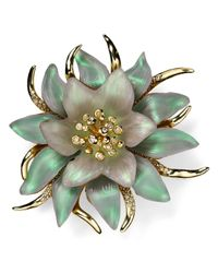 Alexis Bittar | Green Lucite Encrusted Flower Pin | Lyst