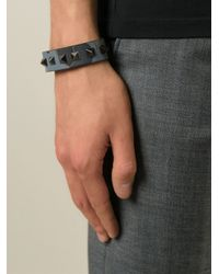 Valentino - Black 'Rockstud' Bracelet for Men - Lyst