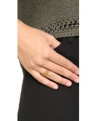 Gorjana - Metallic Jillian Ring - Gold - Lyst