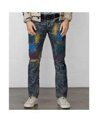 Denim & Supply Ralph Lauren - Multicolor Slimfit Splatter Jeans for Men - Lyst