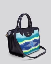 Longchamp | Blue Satchel - Limited Edition Le Pliage Heritage Toile Small | Lyst