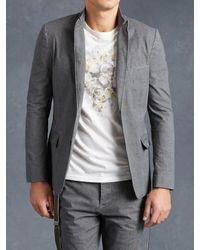 John Varvatos | Gray Linen Cotton Jacket for Men | Lyst