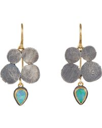 Judy Geib | Metallic Opal, Gold & Silver Drop Earrings | Lyst