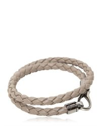 Tod's - Gray My Colors Double Wrap Leather Bracelet for Men - Lyst