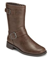 Aerosoles | Brown Take Pride Faux Leather Boots | Lyst