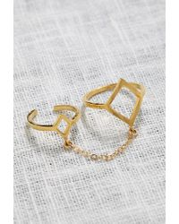 Forever 21 - Metallic Katie Dean Double Diamond Ring - Lyst
