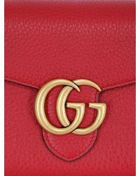 Gucci - Red Small Interlocking Cellarius Leather Bag - Lyst
