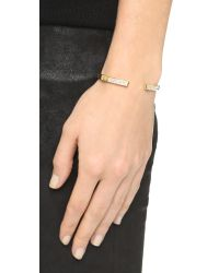 Vita Fede - Metallic Solitaire Crystal Bracelet - Gold/clear - Lyst