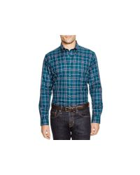 Brooks Brothers - Blue Twill Plaid Regular Fit Button Down Shirt for Men - Lyst
