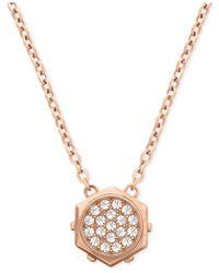 Swarovski | Pink Bolt Crystal Micro Pendant Necklace | Lyst