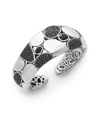 John Hardy | Metallic Kali Chalcedony, Black Sapphire & Sterling Silver Lava Kick Cuff Bracelet | Lyst