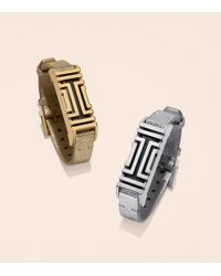 Tory Burch - For Fitbit Metallic Leather Bracelet - Lyst