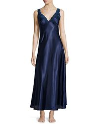 Jonquil | Blue Taylor Lace-front Satin Long Gown | Lyst