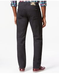 LRG | Black Big And Tall Straight-fit Dark-wash Jeans for Men | Lyst
