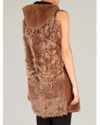 Marni - Brown Bi-Colour Shearling Gilet - Lyst
