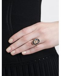 Carolina Bucci - Multicolor 'M' 18Kt Gold Ring - Lyst