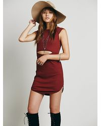 Free People | Red Intimately Womens She Capped It Bodycon | Lyst