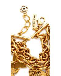 Oscar de la Renta - Metallic Seashell Bracelet - Russian Gold - Lyst