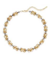 Saks Fifth Avenue - Metallic Beaded Sparkle Section Necklace - Lyst