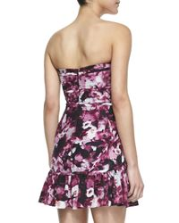 Parker - Multicolor Britney Floral Print Quilted Flounce Dress - Lyst