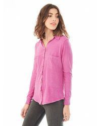 Alternative Apparel - Purple Everyday Slub Button Up Shirt - Lyst