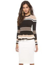 Torn By Ronny Kobo - Natural Mercedes Long Sleeve Top - Lyst